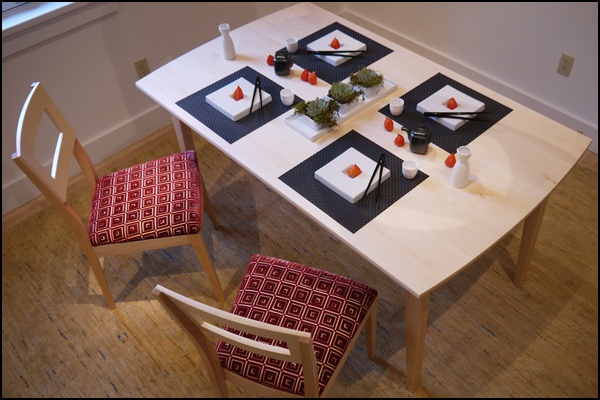 Maine artists create Maple table ... & Setting the table: Six Designer Tableaux | PenBay Pilot