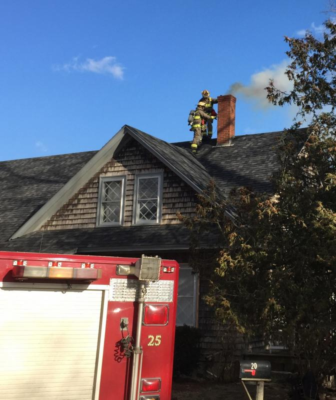 Rockport Chimney Clogs Smokes With Half Burnt Paper Waste