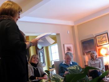 Sandy Weisman at Kathirn Seitz reading