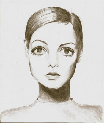 """Twiggy"" one of her drawings. (Courtesy Jalina Brown)"