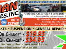 general auto repair, brake repair, exhaust repair, 23-1/2 Hour towing, Waldo County auto repair, Belfast Maine auto repair, alignments, struts and shocks